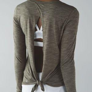 Lululemon Tie Back long sleeve